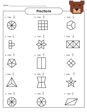 5th Grade Simple Fractions Worksheets - basic fractions ...