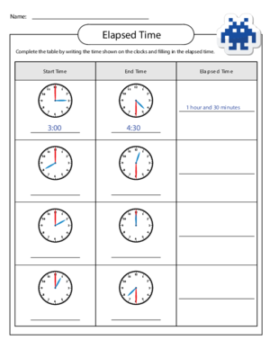 Free elapsed time word problem worksheets 5th grade