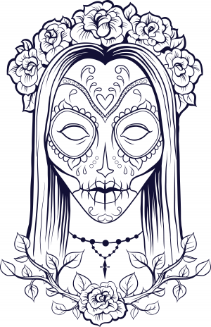 coloring page materials sugar skull coloring pages pictures imagixs