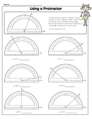 Printables Using A Protractor Worksheet using a protractor worksheet kidspressmagazine com protractor