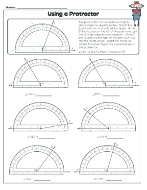 Printables Using A Protractor Worksheet using a protractor worksheet kidspressmagazine com 2