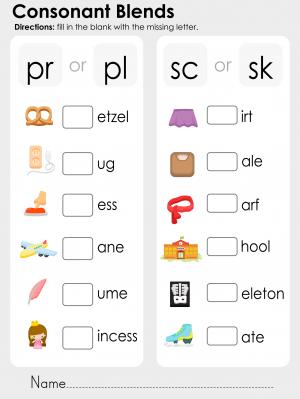 Consonant Blends – fr, fl, gr, gl