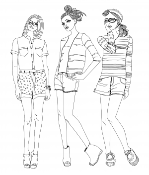 fashion coloring page - Fashion Coloring Pages
