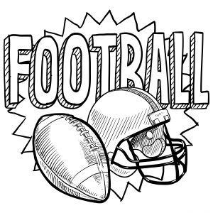 Hockey coloring page for Football color page