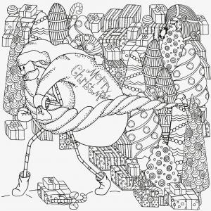 advanced christmas coloring page 5