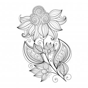advanced coloring pages for kids - flowers advanced archives