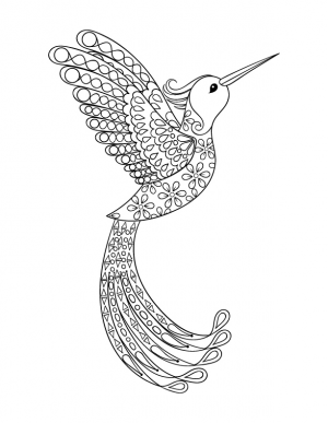 pretty bird art therapy animals advanced - Art Therapy Coloring Pages Animals