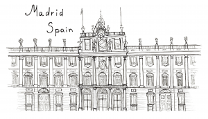 Spain Coloring Page