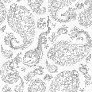 undersea coloring page