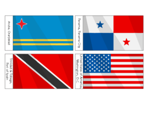 North America Countries Flags Archives