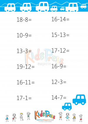 Counting Number worksheets : subtraction drill worksheets for 2nd ...