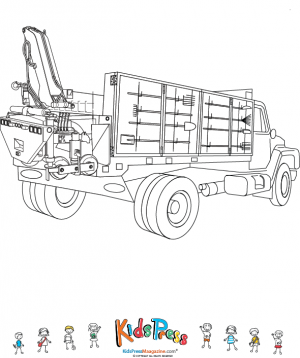 40 Free Printable Truck Coloring Pages Download | 358x300