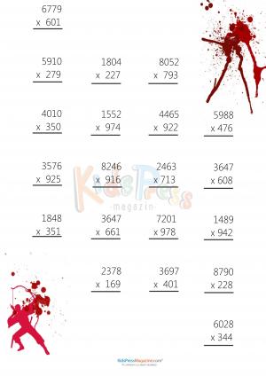 math worksheet : 3 digit by 4 digit drill archives  kidspressmagazine  : Multiplication Worksheets For Beginners