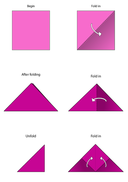 Origami Instructions Vector Images (over 580) | 707x500