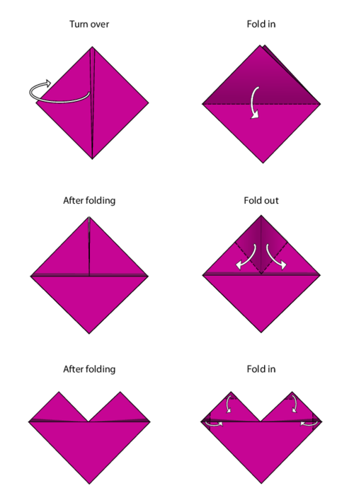 Easy Origami Instructions Heart
