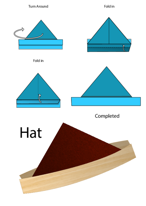 Easy Origami Instructions Hat