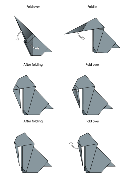 Easy Origami Instructions Elephant