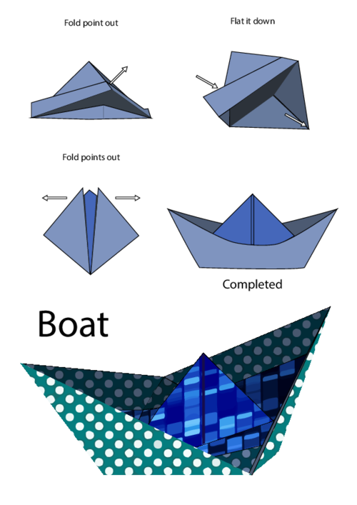 Easy Origami Instructions Boat