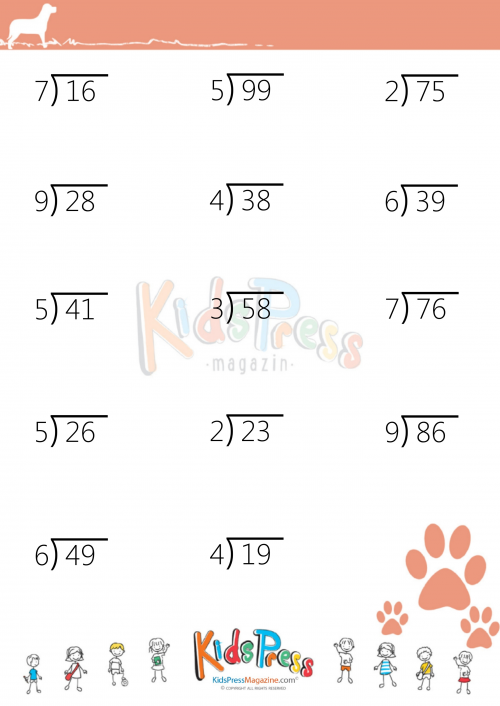 Homework help 2 digit decimal division – One Digit Division Worksheets