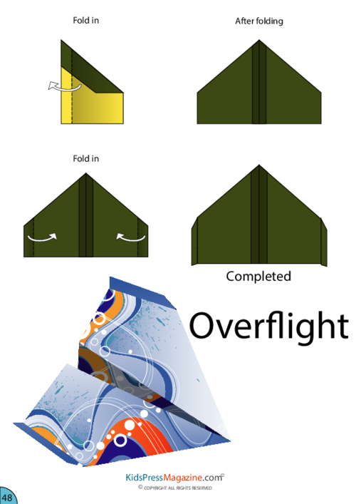 best paper airplane glider instructions