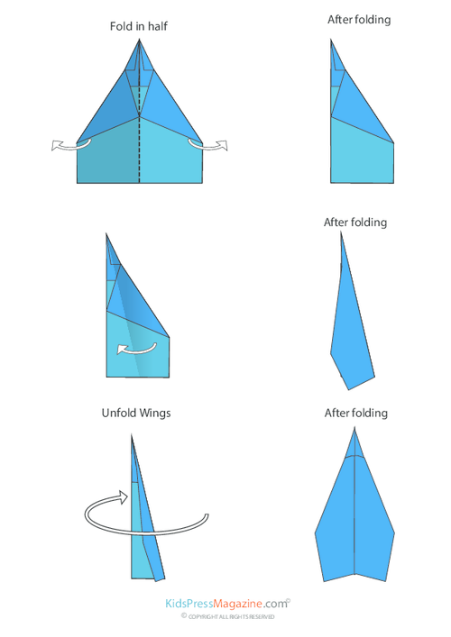 how to make a delta paper airplane
