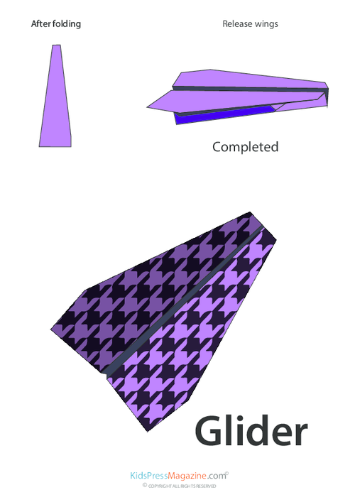 Paper Airplane Instructions – Glider - KidsPressMagazine com