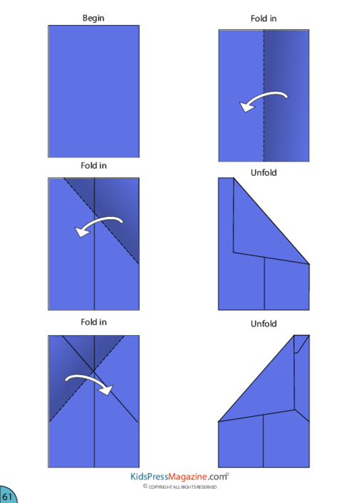 Paper Airplane Instructions Dart Kidspressmagazine