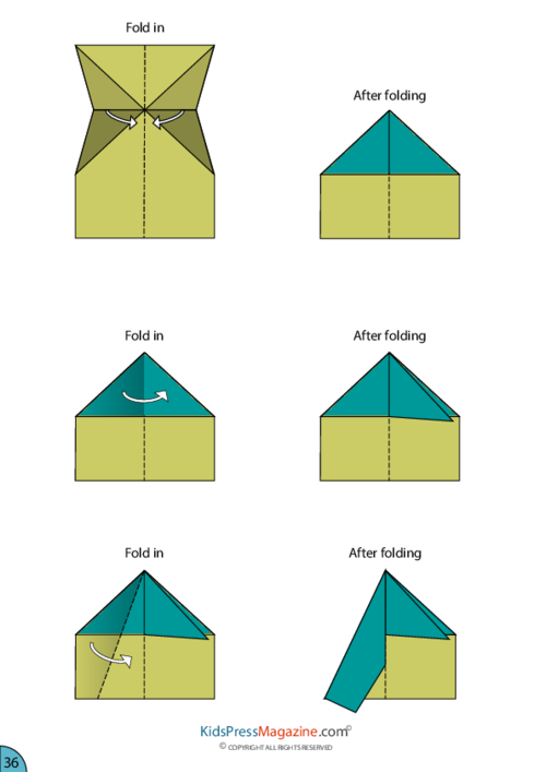 graphic relating to Printable Paper Airplane Instructions named Paper Plane Guidance Fuselage -