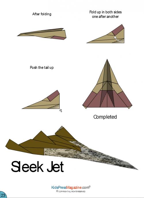 Paper Airplane Instructions Sleek Jet Advanced Kidspressmagazine