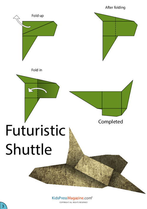 space shuttle paper patterns - photo #29