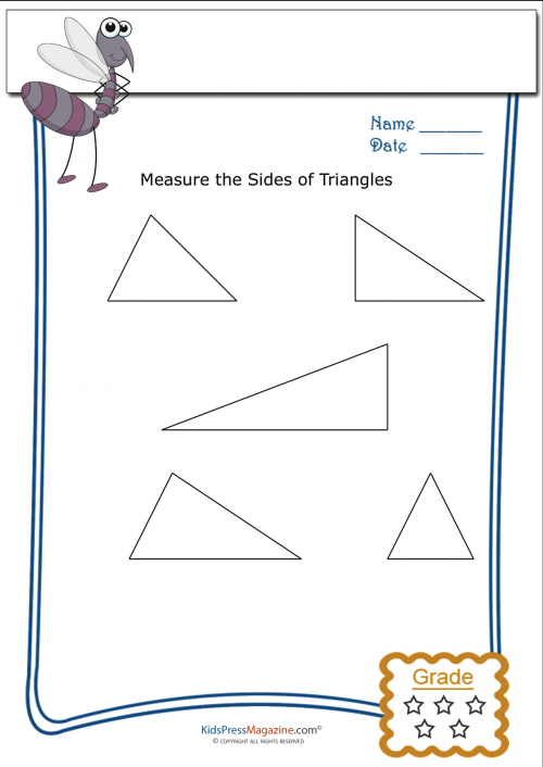Basic Geometry Worksheet – Triangle Measurement 5 ...