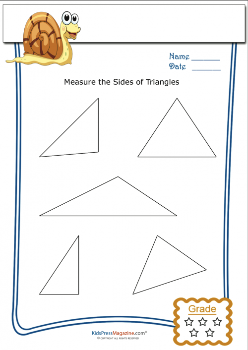 Measuring Triangles Worksheets - Davezan