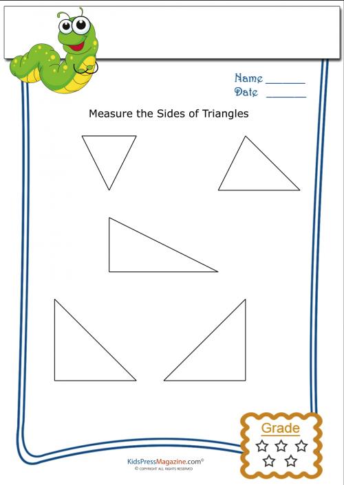 basic geometry worksheet triangle measurement 3. Black Bedroom Furniture Sets. Home Design Ideas