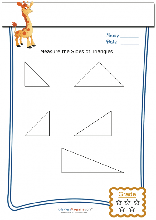 basic geometry worksheet triangle measurement 1. Black Bedroom Furniture Sets. Home Design Ideas