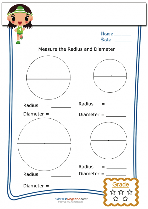 basic geometry worksheet radius and diameter 4. Black Bedroom Furniture Sets. Home Design Ideas