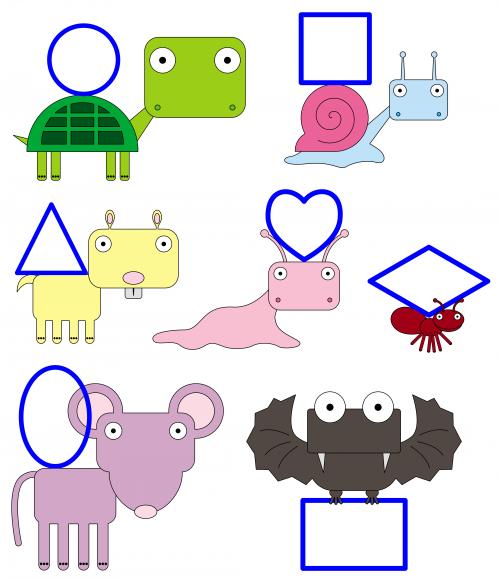 Basic Geometric Shapes Animal Friends