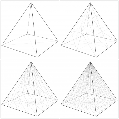 how to draw a pyramid math