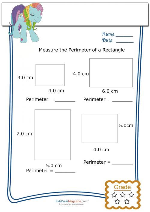 measure perimeter worksheet rectangle 1. Black Bedroom Furniture Sets. Home Design Ideas