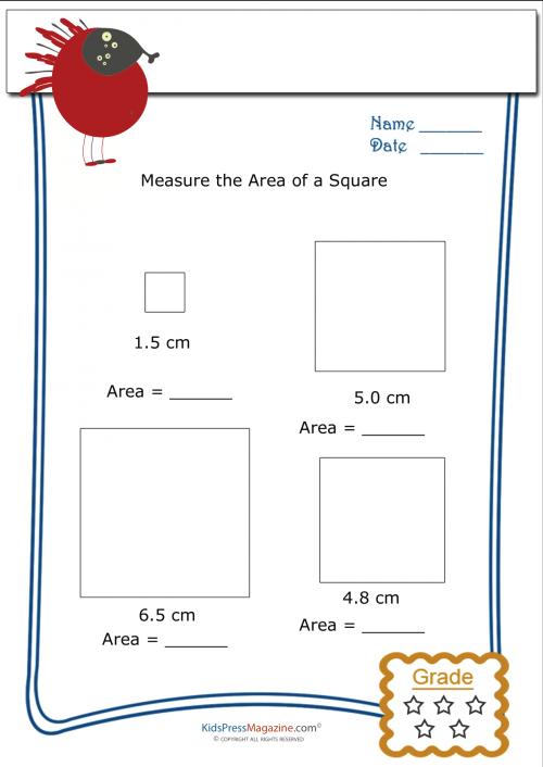 measuring area worksheet square 4. Black Bedroom Furniture Sets. Home Design Ideas