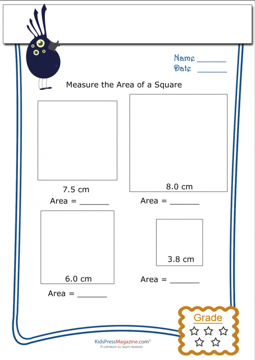 3rd grade area and perimeter free worksheets