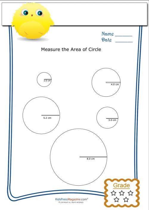 Area of a Circle Archives KidsPressMagazine – Circle Area Worksheet