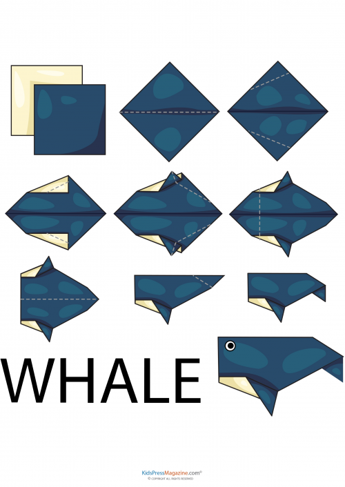 How to make Origami Blue Whale, tutorial - YouTube | 706x500
