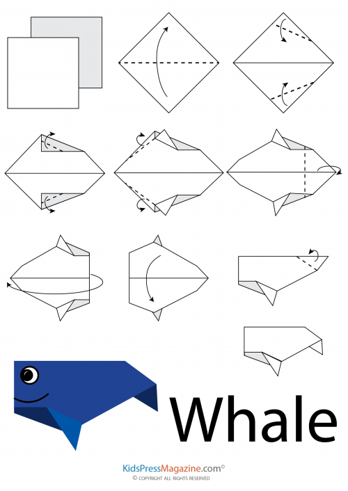 origami whale instructions easy