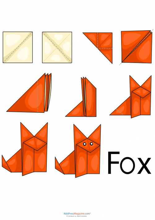 how to make origami fox face