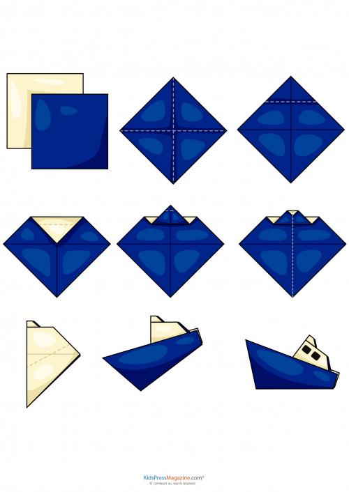 Easy Origami Tug Boat Kidspressmagazine