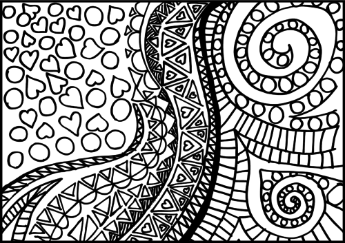 kids coloring pages intricate designs - photo#18