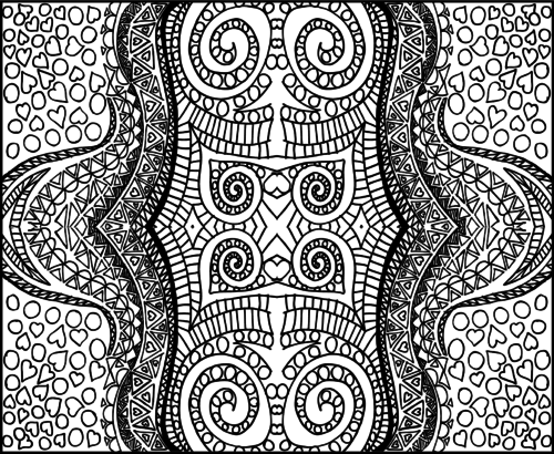 kids coloring pages intricate designs - photo#27