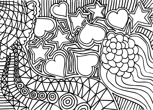 free relaxation coloring pages - photo#50