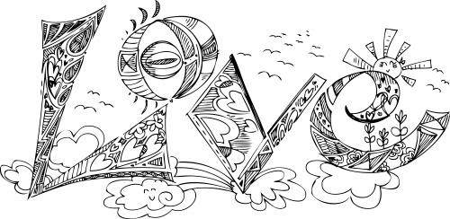 free coloring pages of art therapy letters