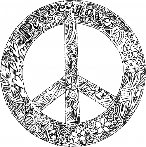 peace sign mandala coloring pages doodle coloring page peace sign